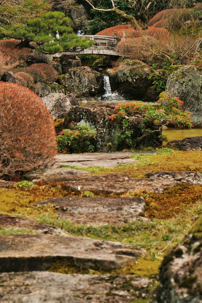 阿含宗 総本殿のお庭の写真素材