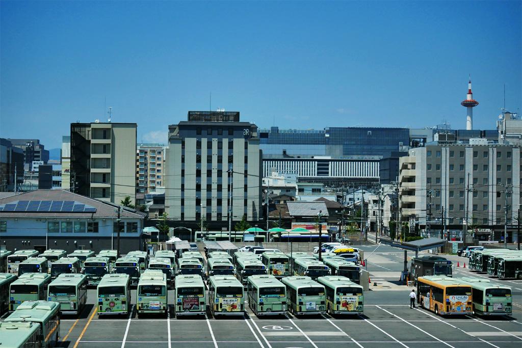 京都 バス の写真素材