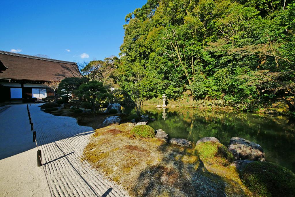 知恩院の方丈庭園の写真素材