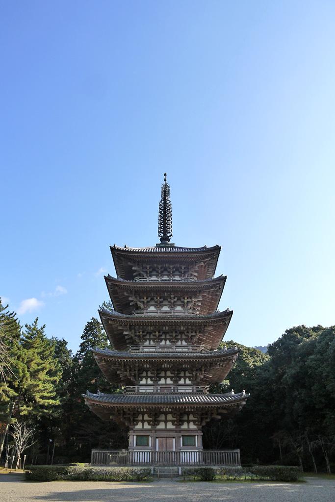 醍醐寺五重塔の写真素材