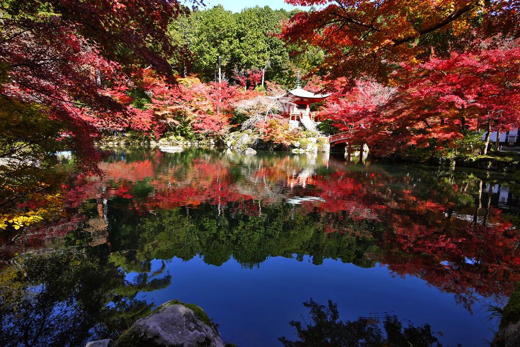 醍醐寺紅葉の写真素材
