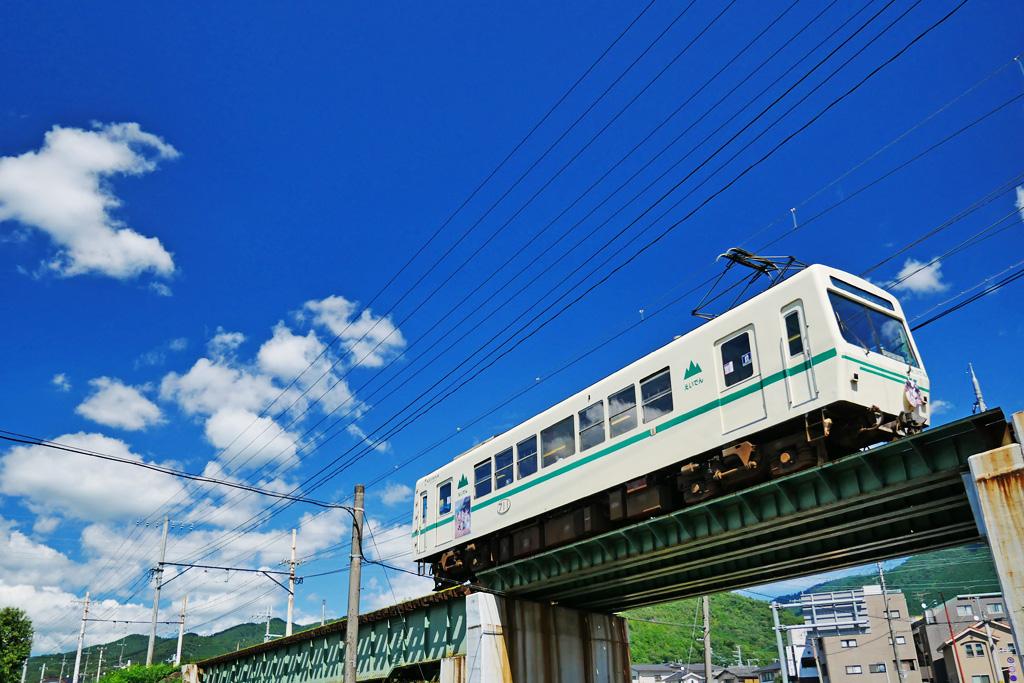 花園橋 叡電の写真素材