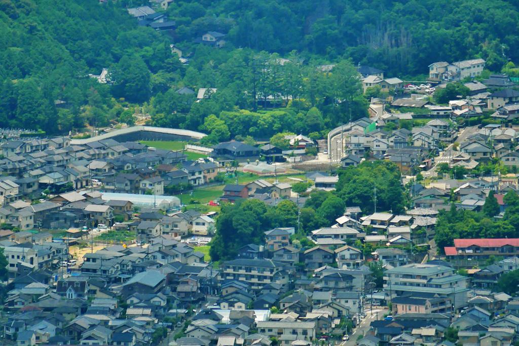 圓通寺の遠景の写真素材