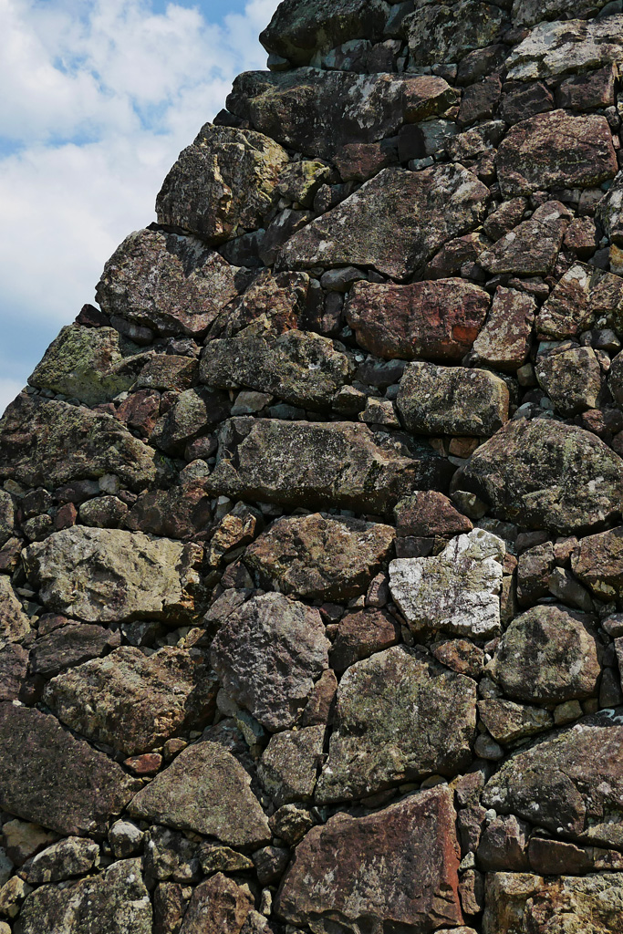 福知山城の石垣の写真素材