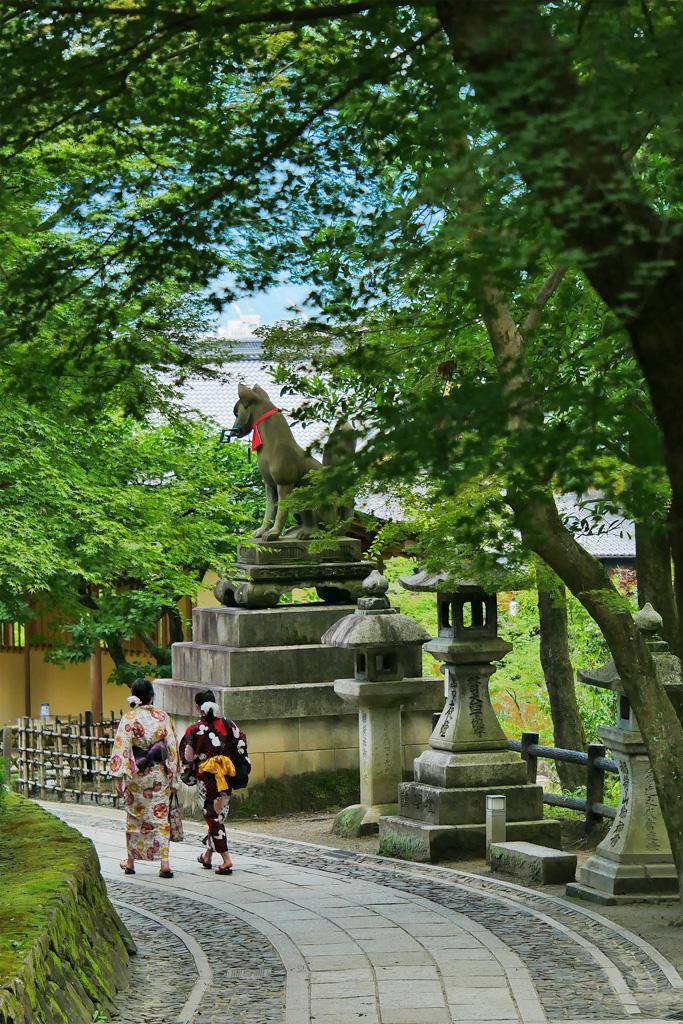 伏見稲荷大社の宵宮祭・本宮祭の写真素材