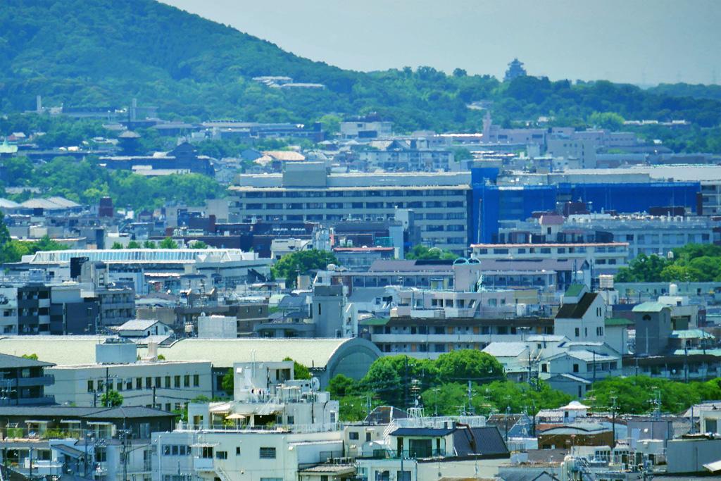 伏見桃山城の遠景の写真素材