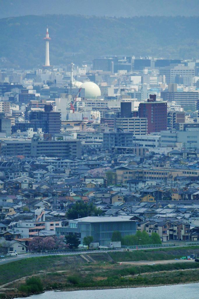 京都のガスタンクの写真素材