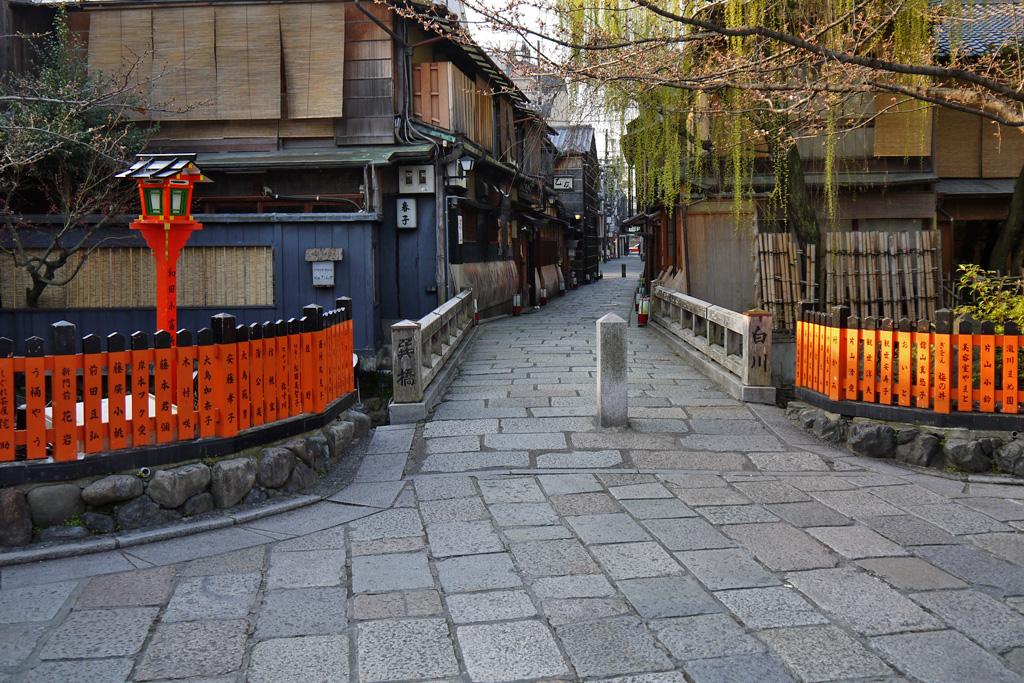 祇園の町並みの写真素材