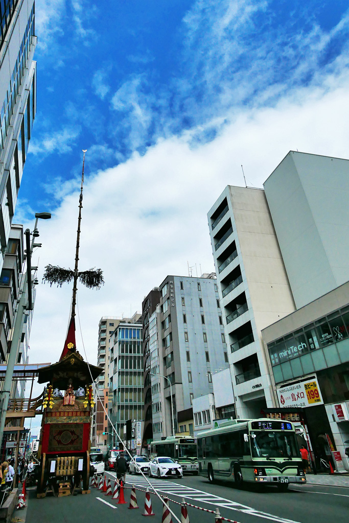 月鉾 祇園祭 宵山の写真素材