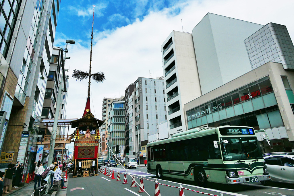 京都 祇園祭 宵山の写真素材