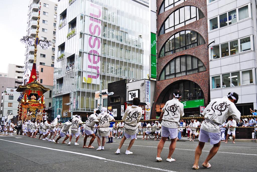 京都祇園祭 山鉾巡行の写真素材