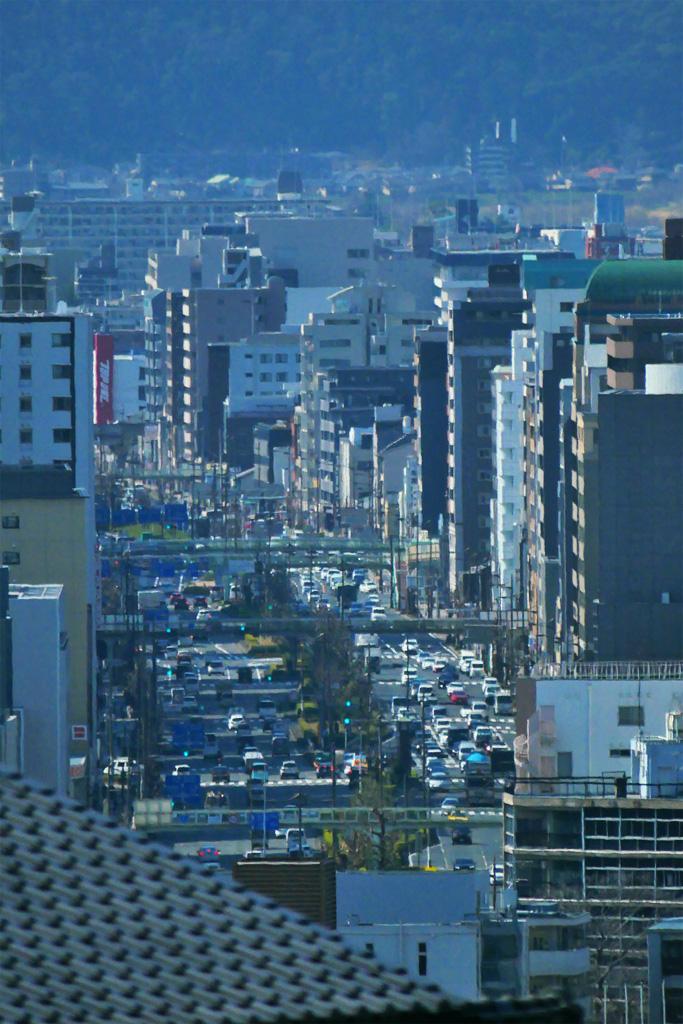 京都の道路の写真素材