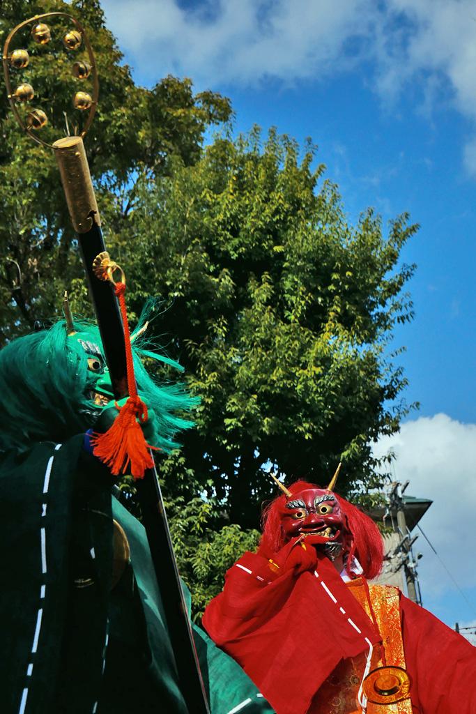 護王神社の鬼の写真素材