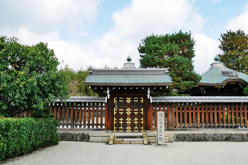 龜山天皇陵の写真素材