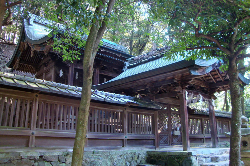 白山神社(宇治)の写真素材