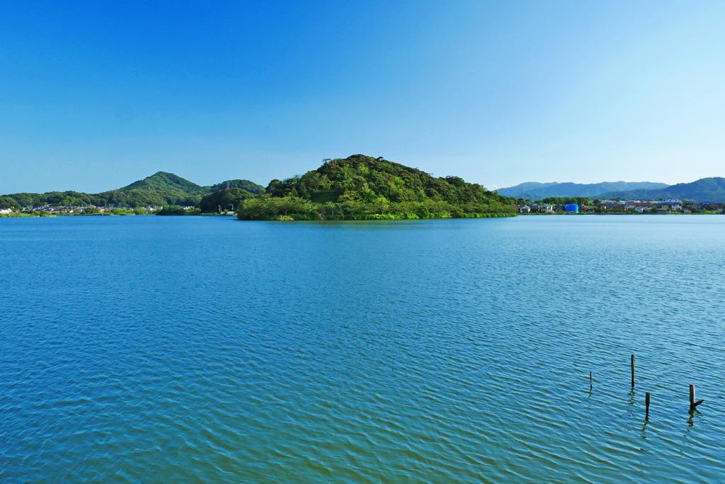 離湖の写真素材