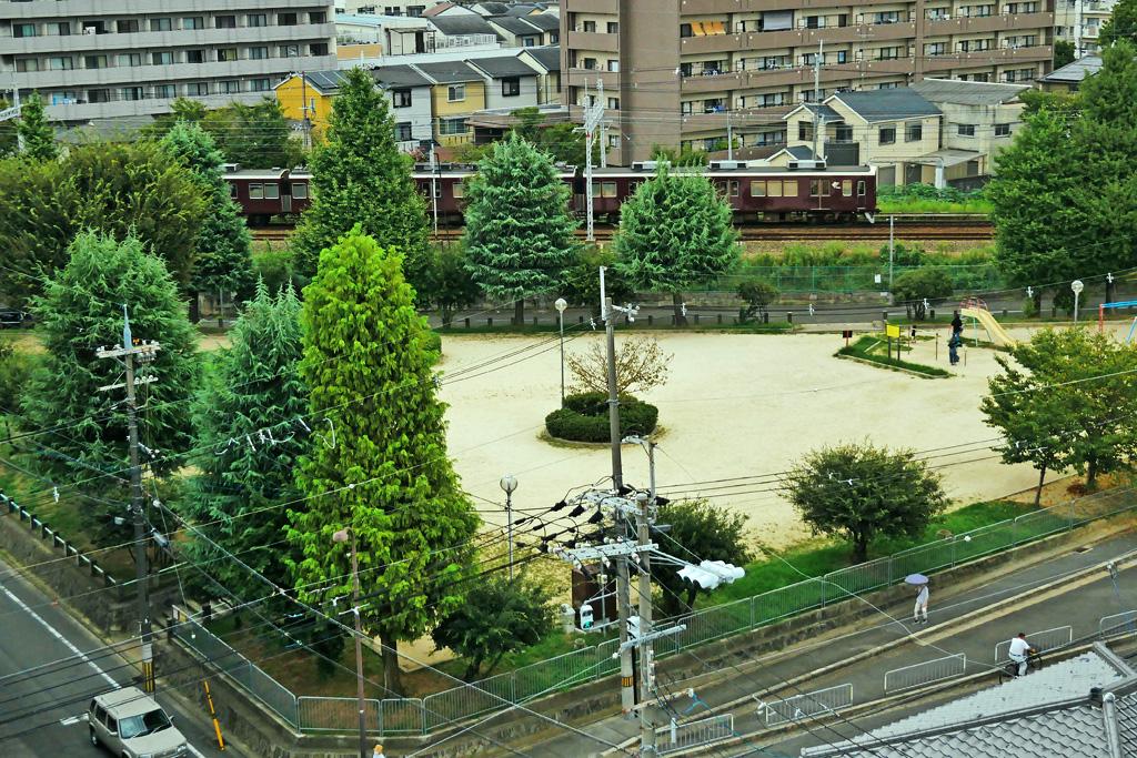 阪急電車の写真素材