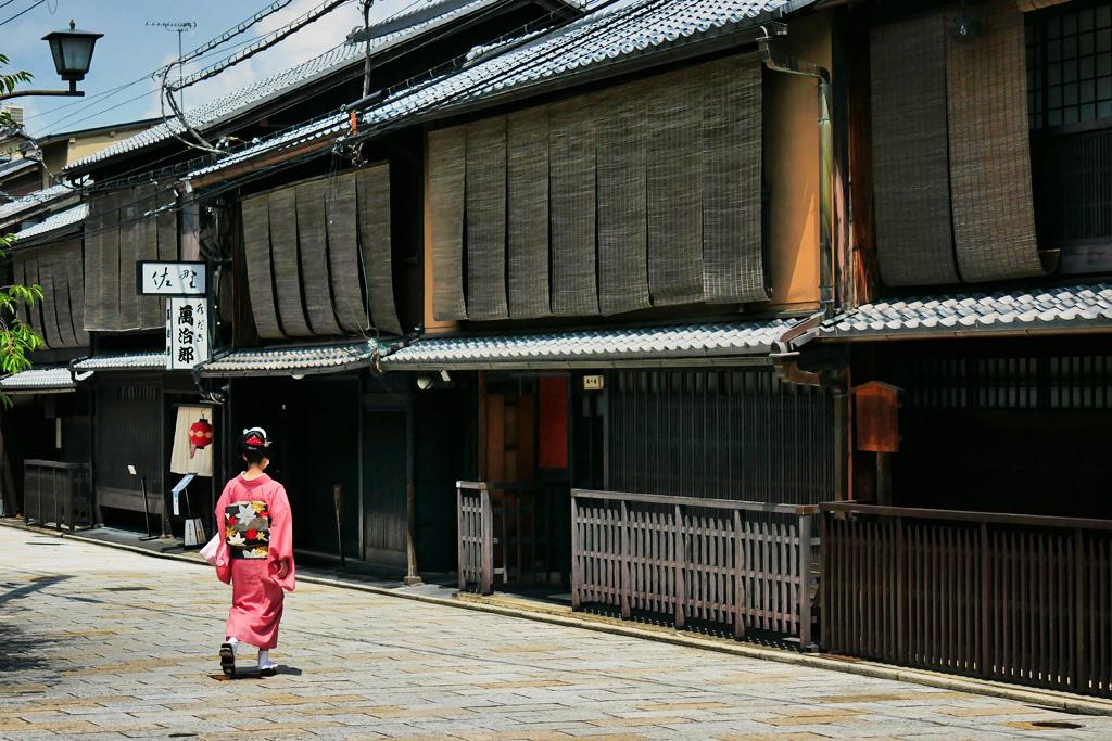 祇園白川の八朔の写真素材
