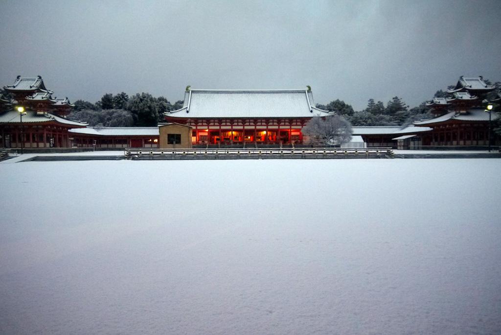 平安神宮の雪