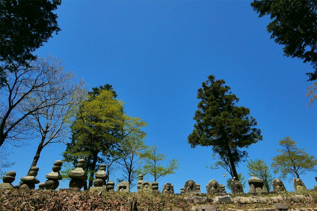 比叡山 石仏の写真素材
