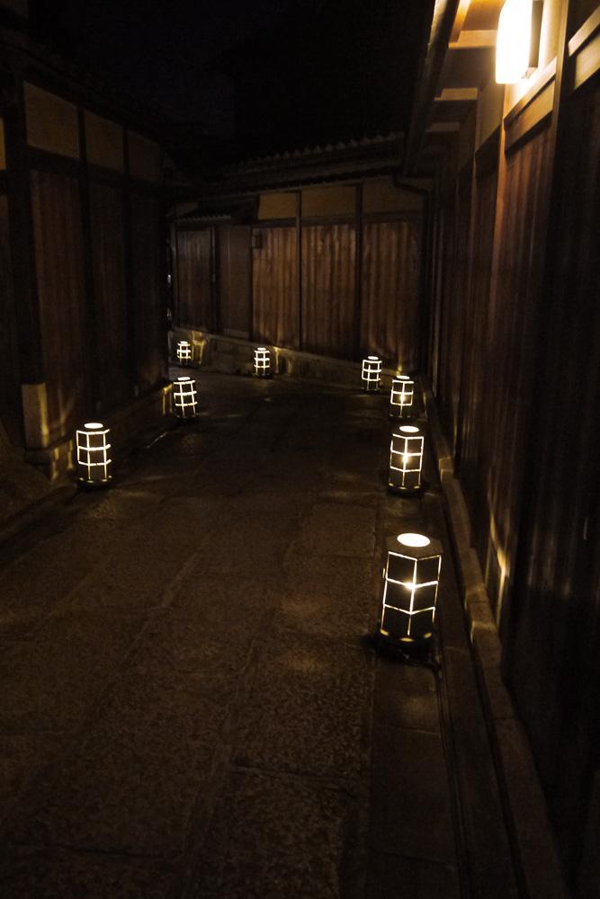 京都 東山花灯路  無料画像