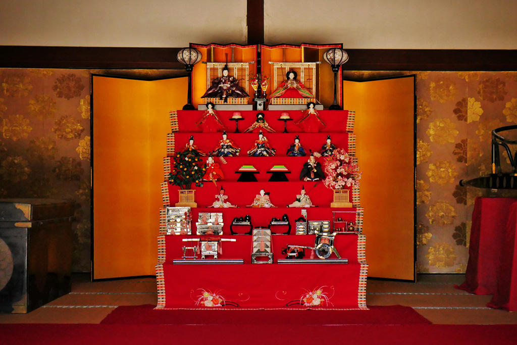 京都の雛人形・雛飾りの写真素材