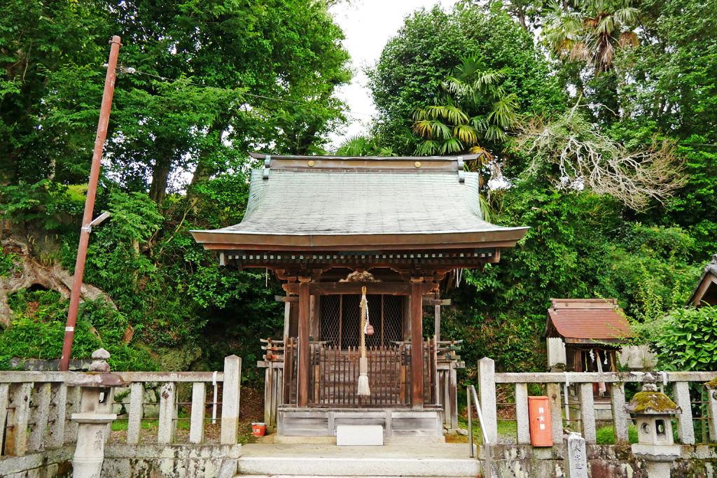 亀岡の保津八幡宮の写真素材