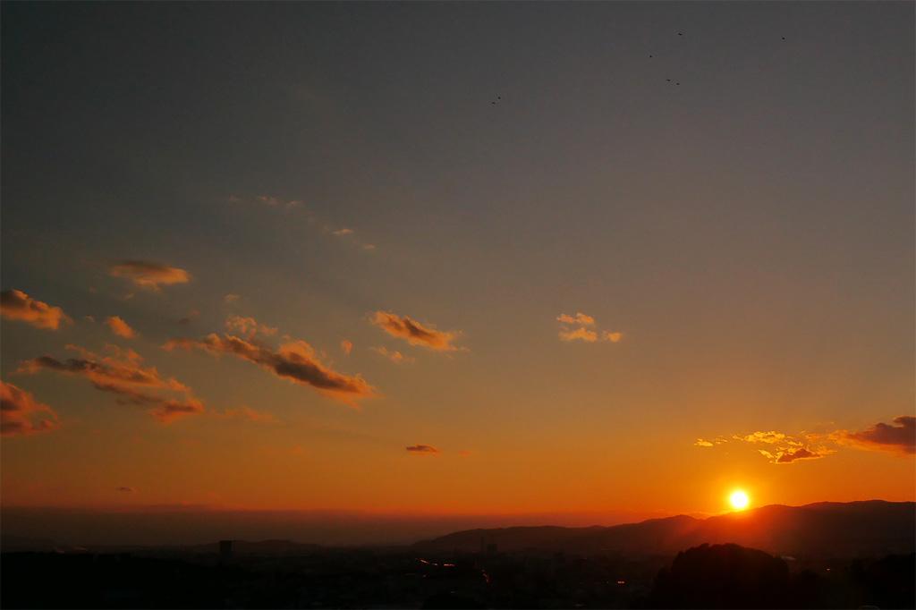豊国廟から見る夕暮れの写真素材