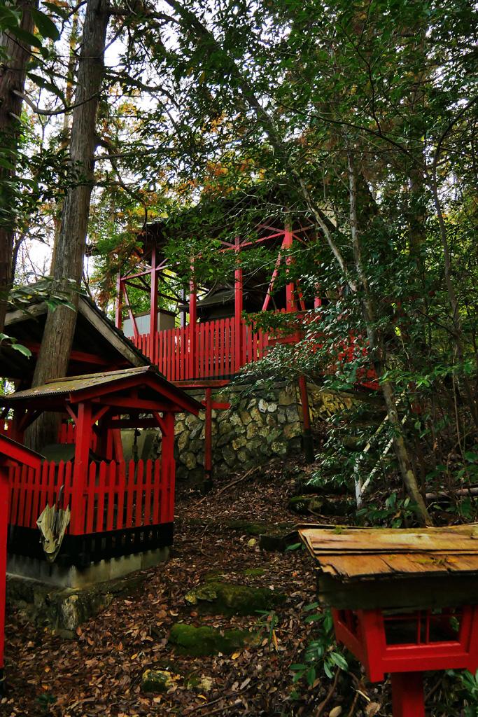 園部町 岩波稲荷神社の写真素材