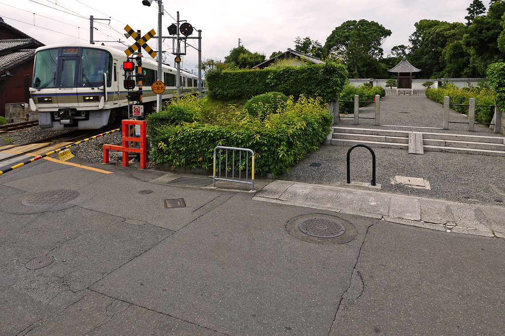 深草北陵とJR奈良線の写真素材