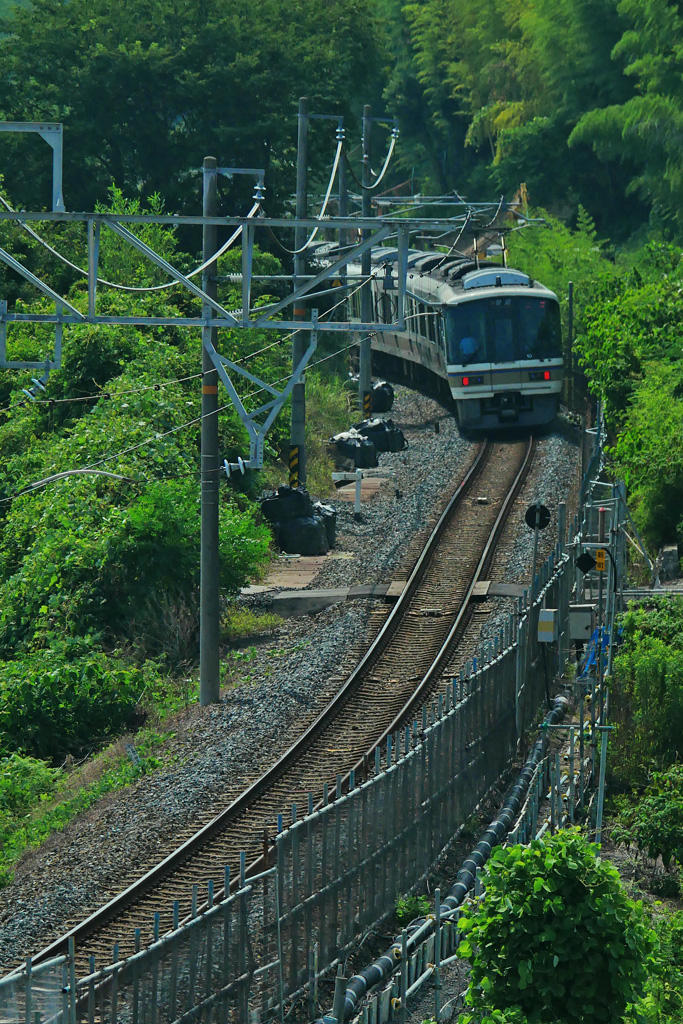 JR奈良線 六地蔵の写真素材