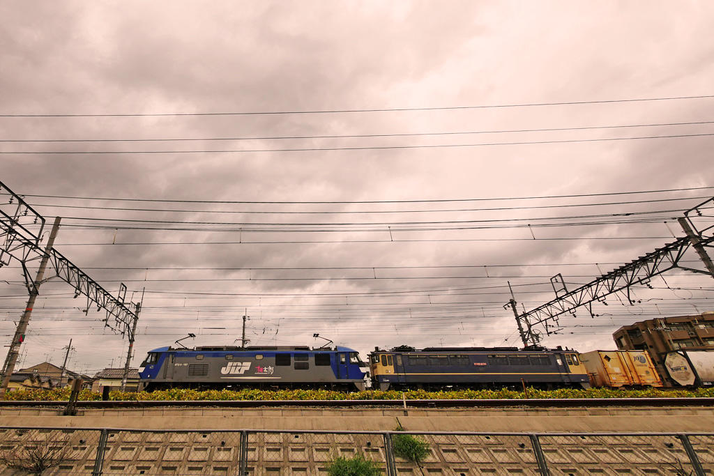 JR 電気機関車 EF210の写真素材