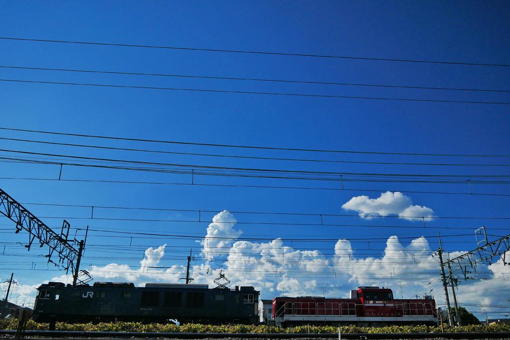 JR 電気機関車の写真素材