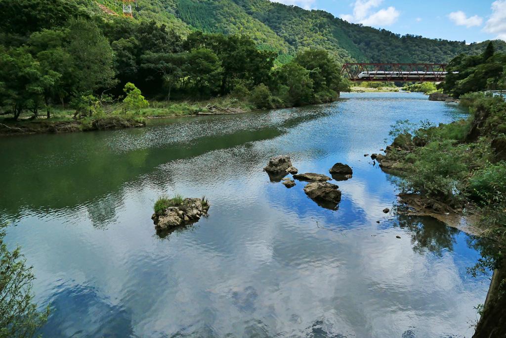 JR山陰線 橋梁の写真素材