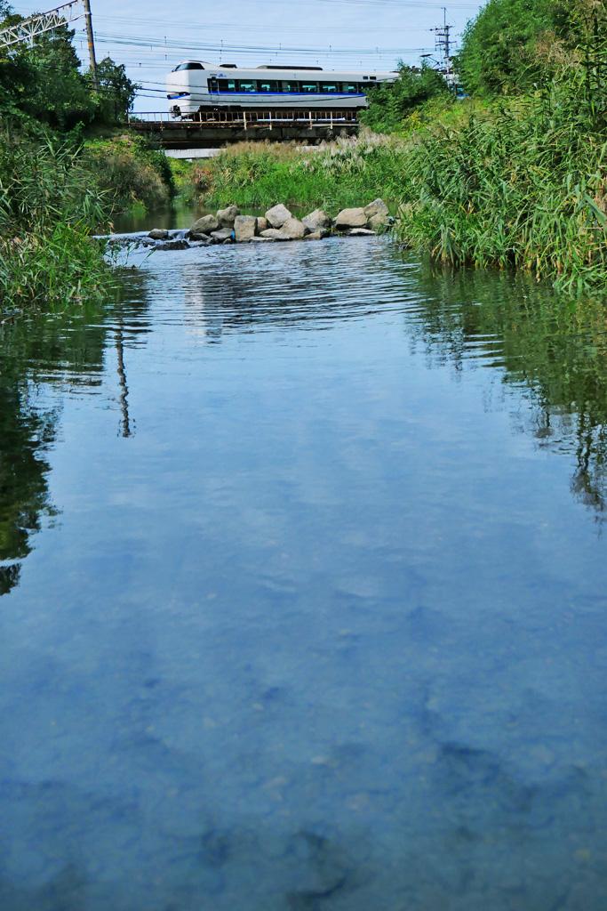 長慶公園から見るサンダーバードの写真素材