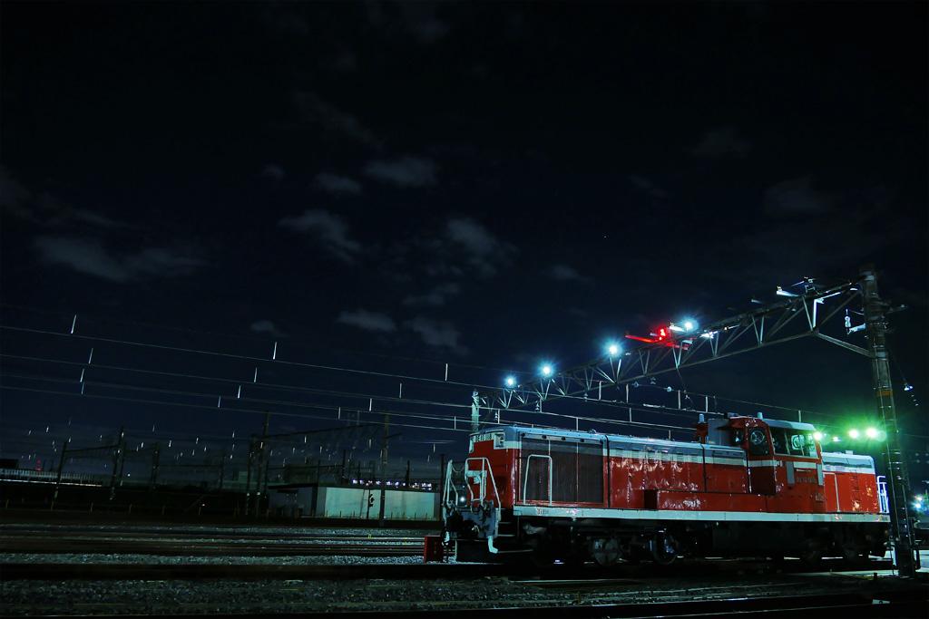 JRの写真素材 DE10形ディーゼル機関車 夜