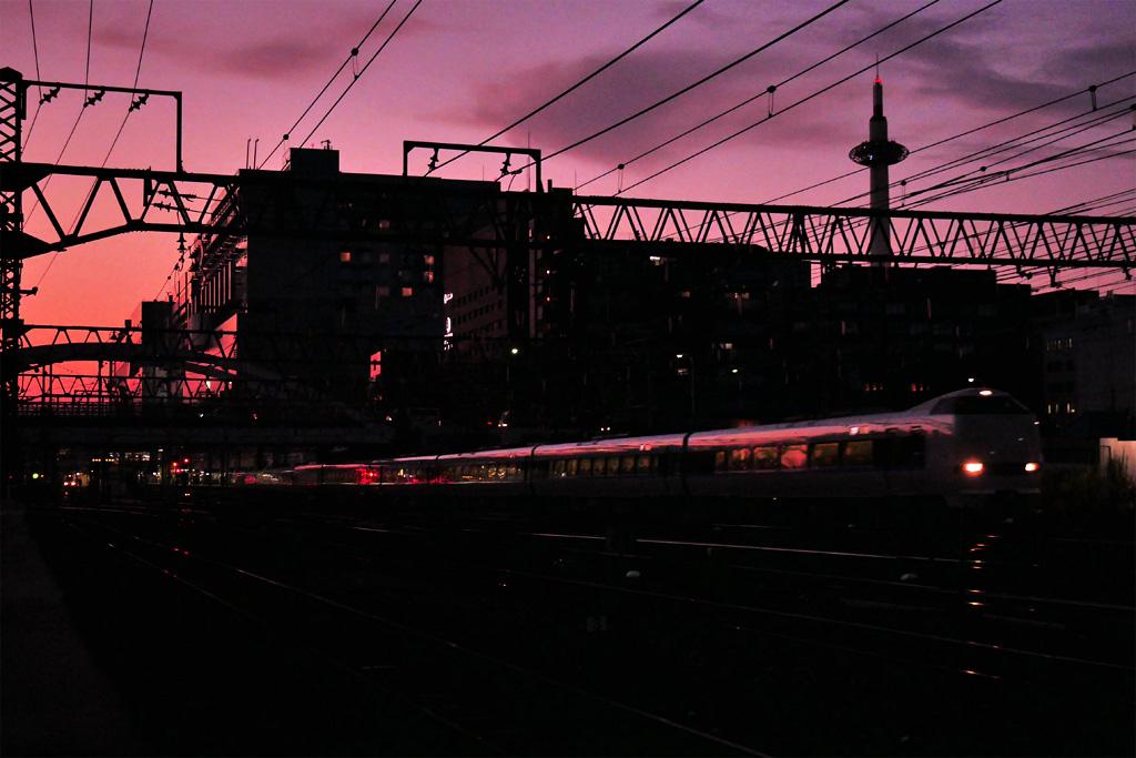 京都のJRの写真素材