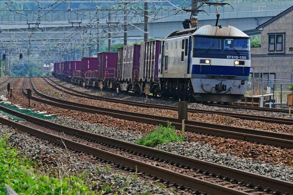 JR貨物列車 EF210-155の写真素材