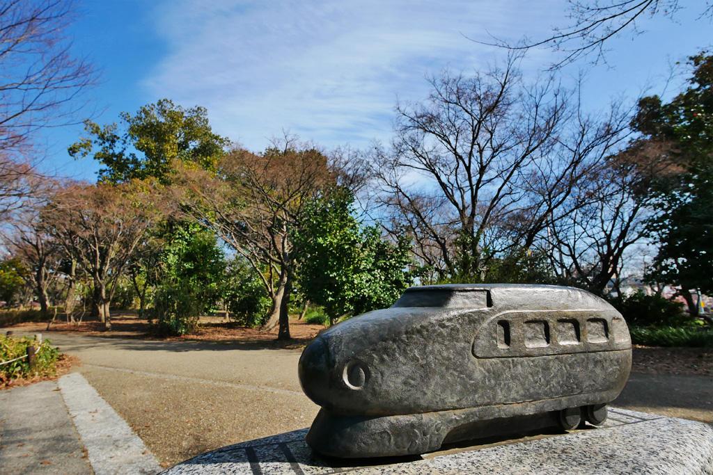京都 新幹線 梅小路公園の写真素材