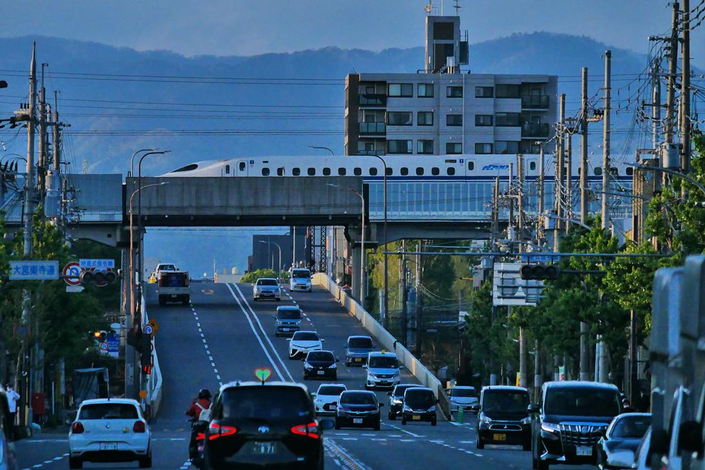 京都 新幹線の写真素材