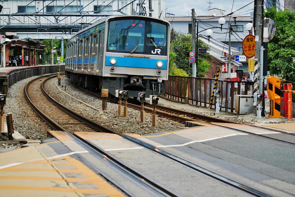 京都のJR奈良線の写真素材