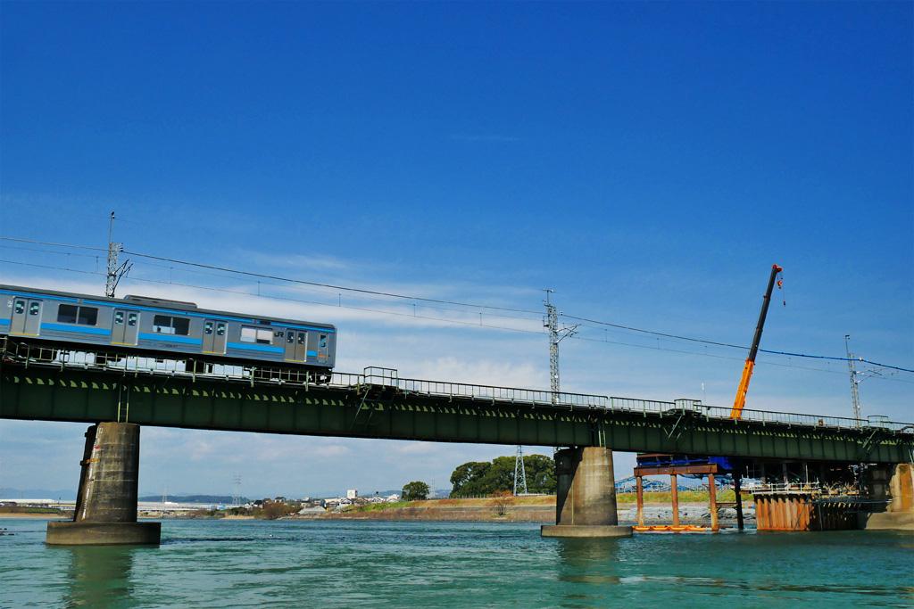 JR奈良線の複線化工事の写真素材