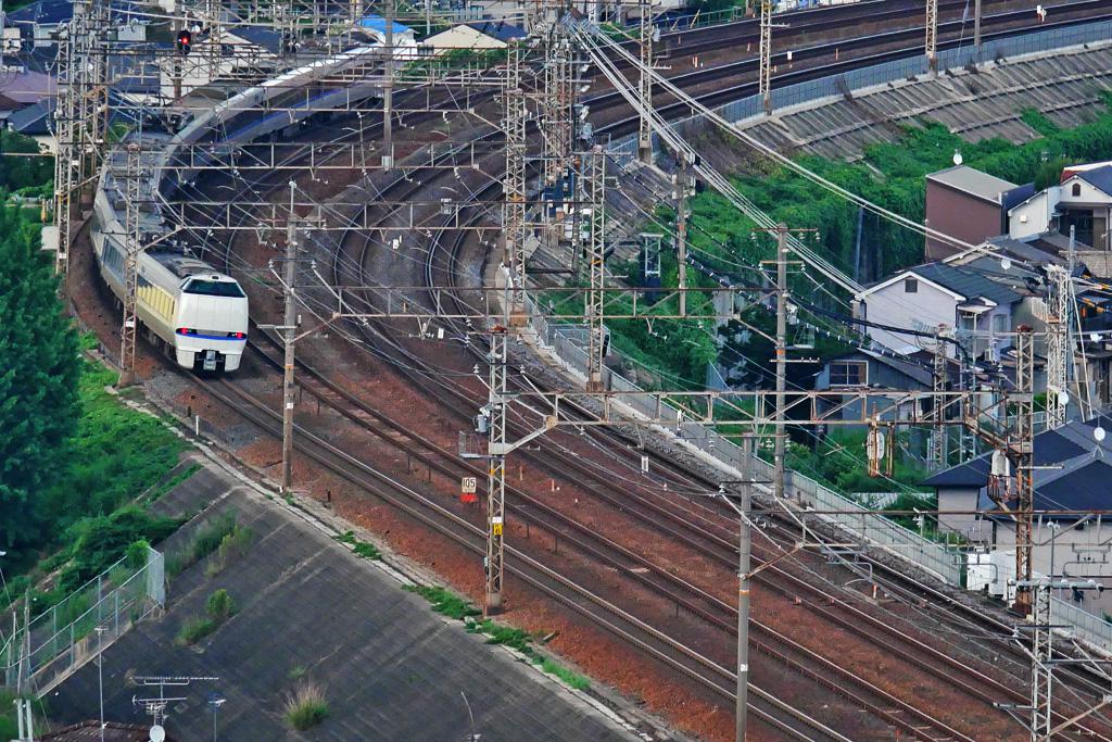 京都山科のJRの写真素材