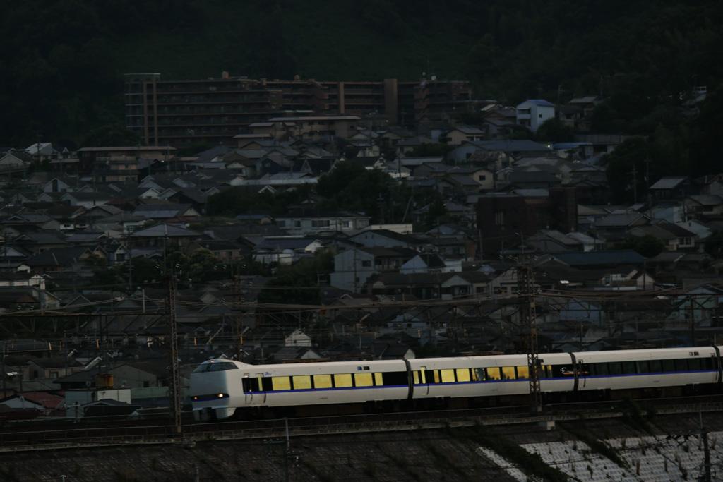 京都山科の電車の写真素材