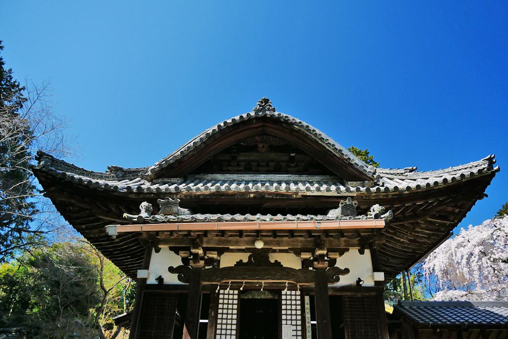 十輪寺の本堂の写真素材