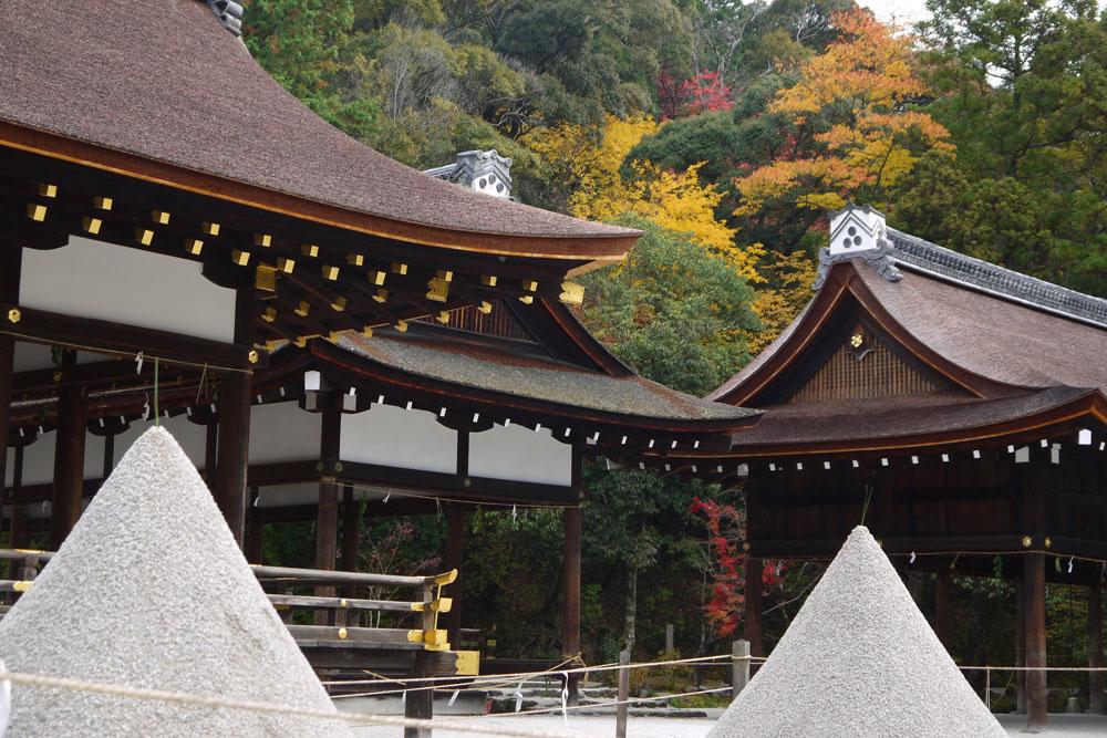 上賀茂神社の立砂の写真素材