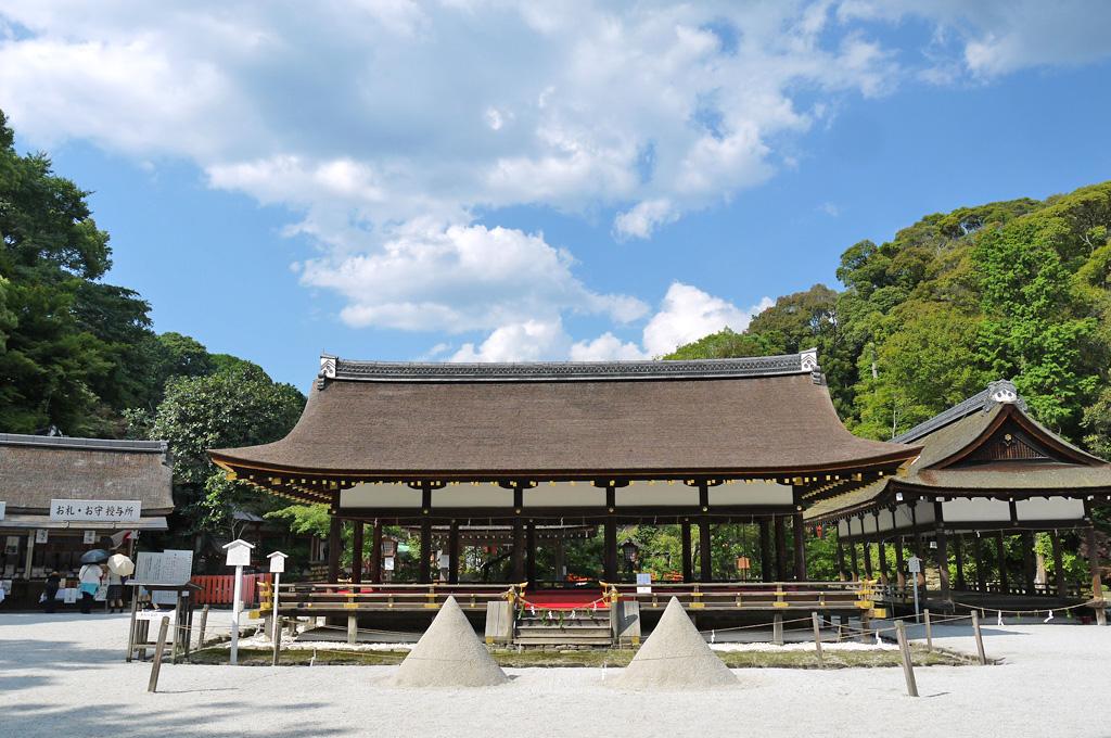 上賀茂神社の細殿の写真素材