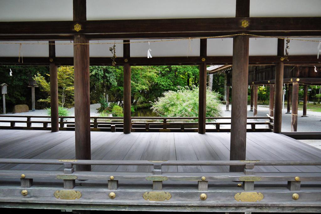 上賀茂神社の橋殿の写真素材