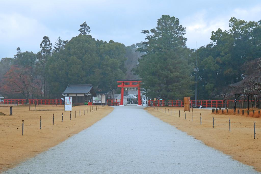 上賀茂神社の霧の写真素材