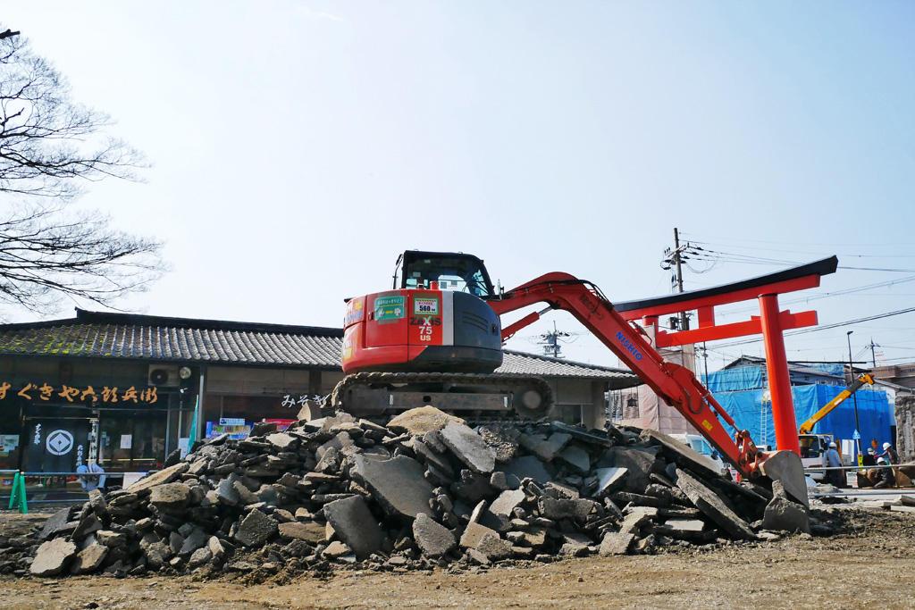 上賀茂神社の工事の写真素材